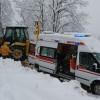 Ordu'da Hastalar Kar Engeline Rağmen Hastanelere Taşındı