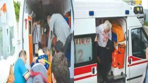 Fatsa'da Feci Kaza Otomobil Şarampole Yuvarlandı 5 Yaralı