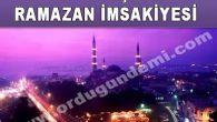 Ordu İli Gürgentepe İlçesi Ramazan İmsakiyesi