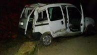Fatsa'da otomobil 100 metre uçurumdan yuvarlandı 4 yaralı