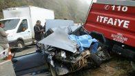 Çatalpınar-Kabataş yolunda Feci kazada 1 kişi öldü