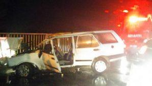 Ordu'da direksiyon hakimiyetini kaybeden araç kaza yaptı 2 ölü
