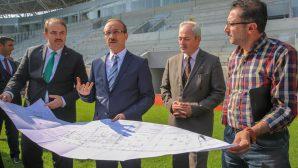 Vali Yavuz, Ordu Stadyumu İnşaatında İncelemelerde Bulundu