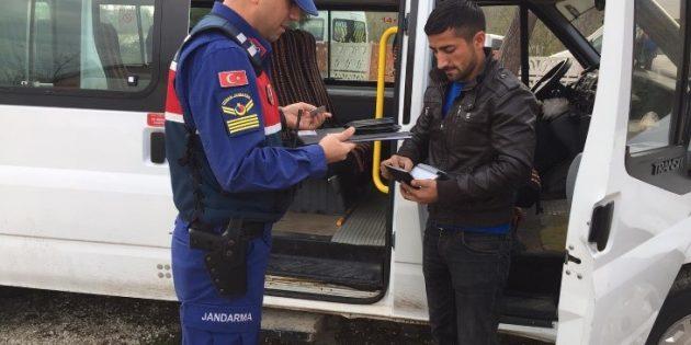 63 araca 14.333 TL ceza ve 25 araç trafikten men edildi