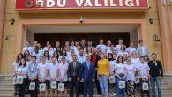 Misafir Öğrencilerden, Vali Yavuz'a Ziyaret