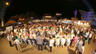 Ünye'de yaklaşık bin 500 kişinin katıldığı sahur programına katıldı