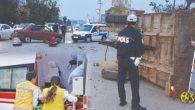 Korgan'dan Fatsa'ya giden otomobil traktöre çarptı 2 yaralı