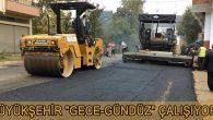 İkizce'de 800 m' lik sıcak asfalt çalışması yapıldı