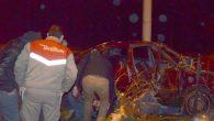 Fatsa'da direksiyon hakimiyetini kaybeden araç kaza yaptı